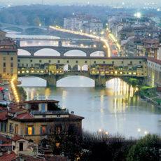Firenze, panorama del Fiume Arno.