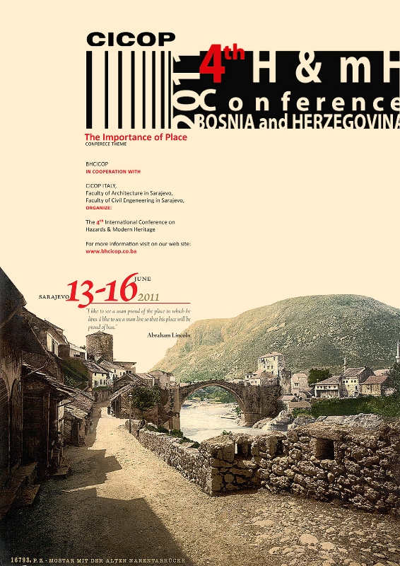 Poster of 4th H&mH Conference, Sarajevo 2011.