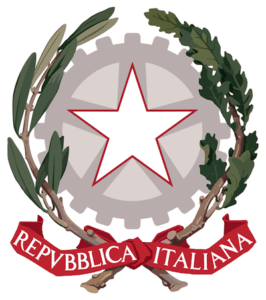 Logo Republic of Italy, President of Italian Republic.