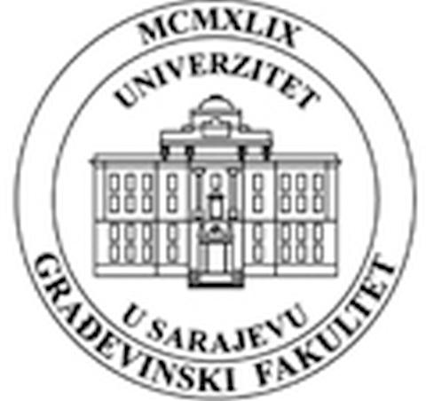 Logo Sarajevo University, Faculty of Civil Engineering.