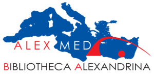 Logo Alexandria and Mediterranean Research Center (Alex Med).