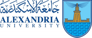 Logo Alexandria University, Fine Art Faculty and Letter Faculty.