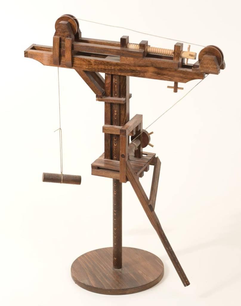 """Model of Leonardo's """"tower crane"""", built by Andrea Neri."""