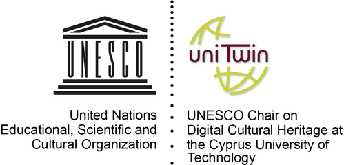 Logo UNESCO - Chair on Digital Cultural Heritage at the Cyprus University of Technology.