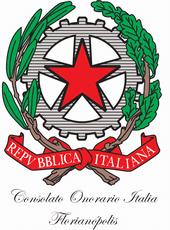 Logo Consolato Onorario Italia Florianópolis.